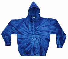 Wholesale Tie Dye Sweatshirts Bulk - ROYAL SPIDER PULLOVER