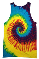 Wholesale T-Shirts Clothing Tie Dye Tank Tops Bulk Supplier - REACTIVE RAINBOW