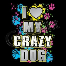 Wholesale T Shirts Bulk - Funny 10969-13 my crazy dog