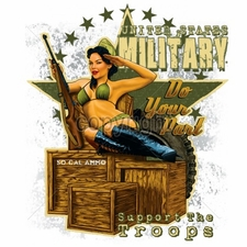 Wholesale T-Shirts Bulk Military T-Shirts Wholesaler -12x14-pinup-united-states-military-do-your-part-support-troop