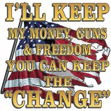 Ill keep the money- Gun T Shirts - P-1877