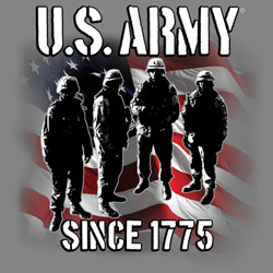 Screen Printed Military T Shirts - Wholesale Bulk Suppliers - US ARMY Military T Shirts, Wholesale Bulk Suppliers - MSC Distributors - 19963D1