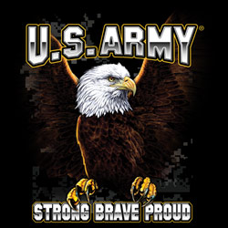 Wholesale U.S. Army Military T Shirts, Wholesale Bulk Suppliers strong brave proud - 19967D1