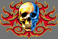 Wholesale T-Shirts Clothing Apparel Bulk American - 3516A_SkullTribalC_2