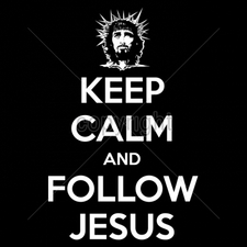 Wholesale T Shirts Custom Printed Suppliers - 16897-9x13-keep-calm-follow-jesus-white-ink