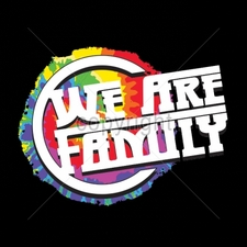 Wholesale T Shirts, Custom T Shirts, Printed T Shirts, Suppliers - 16912-9x7-we-are-family-neon