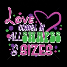 Wholesale T Shirts Custom Printed Suppliers - 7x6-love-comes-all-shapes-sizes-neon