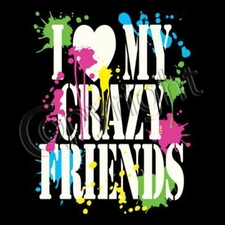 Wholesale T Shirts - Funny Fashion -  Wholesale - 11330-13 i love my crazy friends