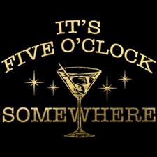 Wholesale Bulk T Shirts Funny Fashion - Wholesale - Funny T Shirts - five o'clock somewhere 15103-P14