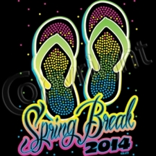 Wholesale - Neon Sandals Spring Break 2014 Wholesale T Shirts Funny Fashion Bulk Suppliers Products - 12276