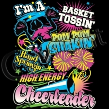Wholesale T Shirts Funny Fashion Bulk Suppliers Products - 12279-ImABasketTossinPomPomShakinHandSpringinHighEneryCheerleader