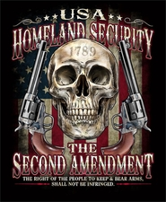 Wholesale - Gun T Shirts - Second Amendment - USA HOMELAND SECURITY S302