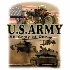 Bulk T Shirts Military Fashion - Wholesale - Military T Shirts - Patriotic - Us Army An Army Of One a12400a