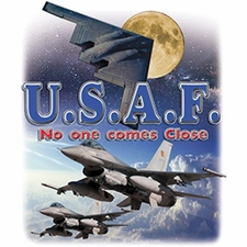 Bulk T Shirts Military Fashion - Usaf  Patriotic - No One a12410a