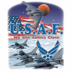 Wholesale Military Patriotic T Shirts Bulk - Usaf No One A12410A