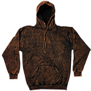 Wholesale Tie Dye Hooded Sweatshirts - MINERAL BROWN