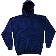 Wholesale Tie Dye Hooded Sweatshirts - MINERAL NAVY