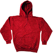 Wholesale Tie Dye Hooded Sweatshirts - MINERAL RED