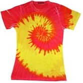 Wholesale - Tie Dye T Shirts - Sublimation Tie Dye Ladies Cheap Wholesalers - 630