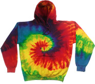 Bulk Wholesale Sweatshirts Hooded Tie Dye - REACTIVE RAINBOW