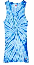Tie Dye Tank Tops For Juniors Wholesale Suppliers -SPIDER BABY BLUE