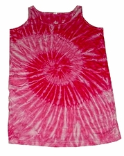 Wholesale Tie Dye Dress - bubblegum-2pocket