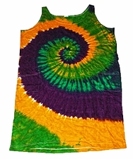 Wholesale Tie Dye Dress - mardi-gras-2pocket