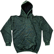 Wholesale Tie Dye Hooded Sweatshirts - MINERAL DARK GREEN