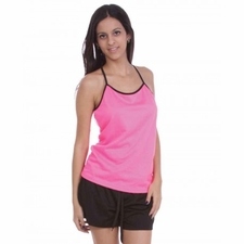 Wholesale Women's Fashion Clothing - Ladies Mesh Tank Top With Contrast Binding S-XL 12.99