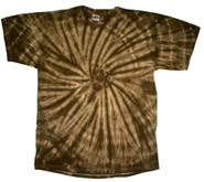 Wholesale - Tie Dye T Shirts - SPIDER CHOCOLATE