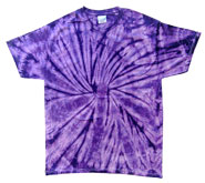 Bulk Wholesale T Shirts Tie Dye - SPIDER PURPLE
