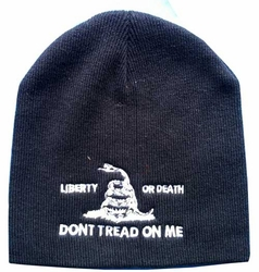 Wholesale Custom Printed Hats - WIN982A Liberty or Death Beanie