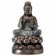 Kuan Yin On Lotus Buddha Statue 14.5 in. H