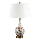 Porcelain Jasmine Star Pattern Table Lamp 29 in. H