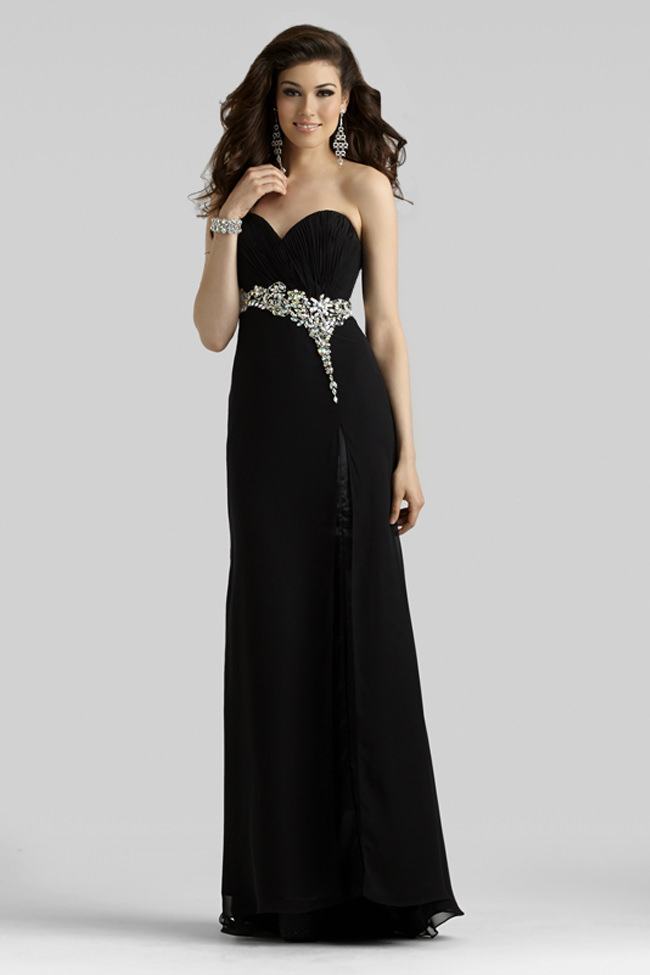 Clarisse 2014 Black Strapless A-Line LBD Prom Gown 2330 | Promgirl.net