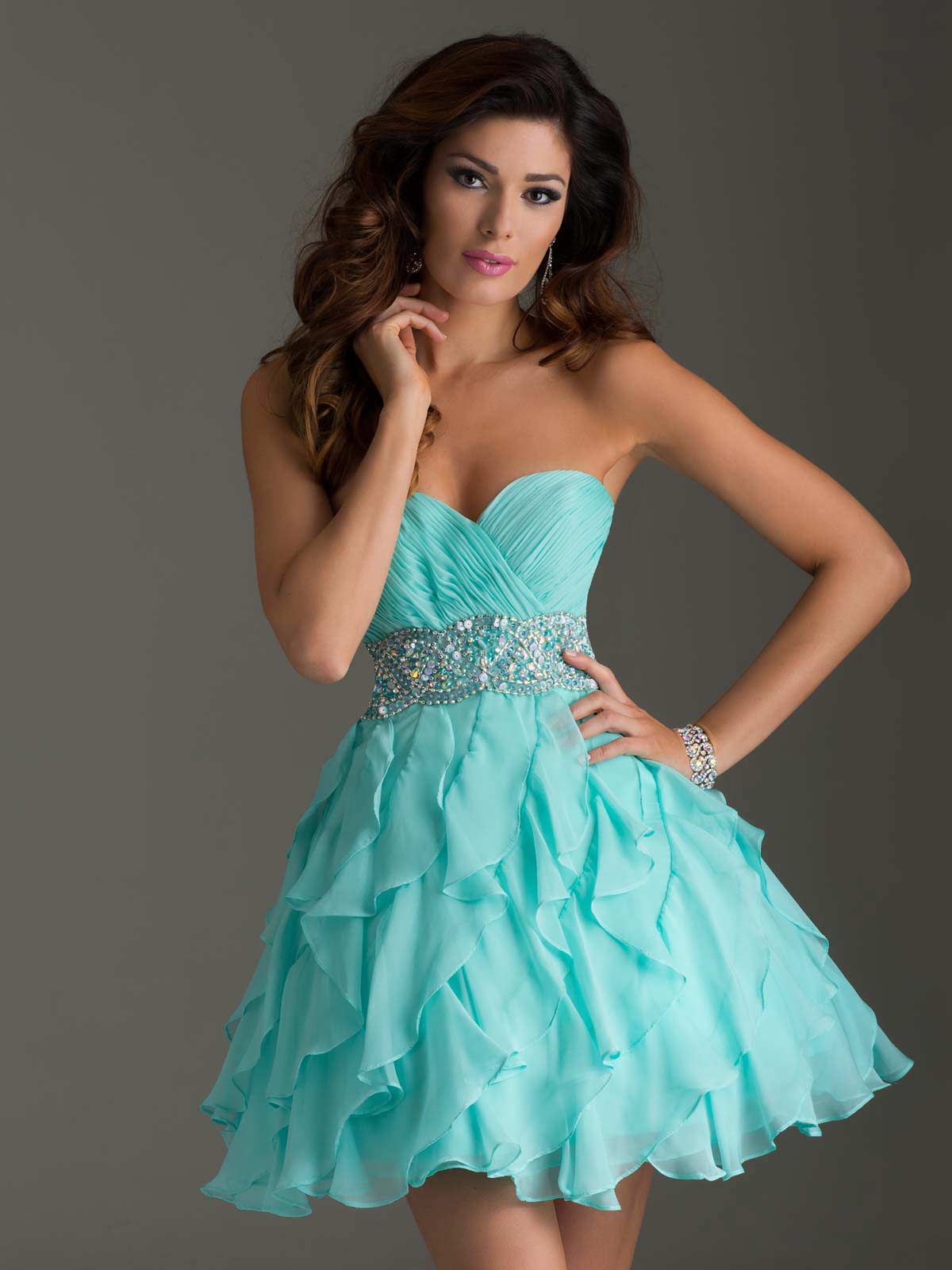 Fashion style Homecoming Teen dresses for girls