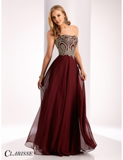 Clarisse A-line Strapless Prom Dress 3000