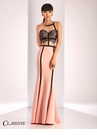 Clarisse Black and Pink Lace Detail Prom Dress 4815