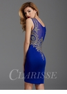 Clarisse Blue and Gold Cocktail Dress 2934