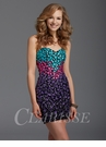 Clarisse Colorful Embellished Homecoming Dress 2936