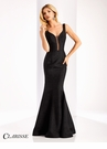 Clarisse Couture Brocade Prom Dress 4802