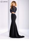 Clarisse Embellished Long Sleeve Two Piece Dress 3208