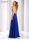 Clarisse Embroidered Halter Prom Dress 3052