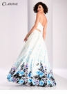 Clarisse Floral Two Piece Ball Gown 3032