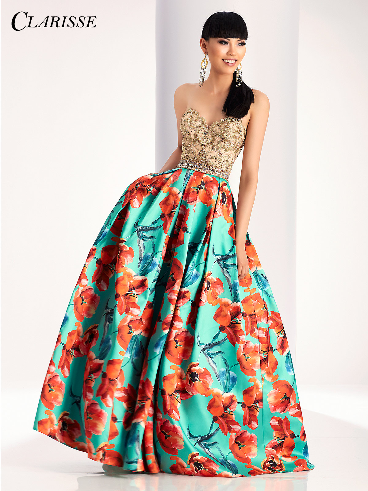 Tropical Evening Gown | Dress images