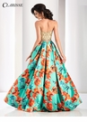 Clarisse Gold and Floral Ball Gown 4814