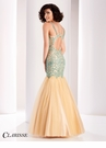 Clarisse Green Embellished Mermaid Prom Dress 4856