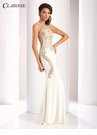 Clarisse Ivory and Gold Prom Dress 4853
