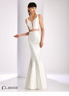 Clarisse Ivory Brocade Two Piece Dress 4844