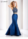 Clarisse Multi Beaded Two Piece Mermaid Dress 3150